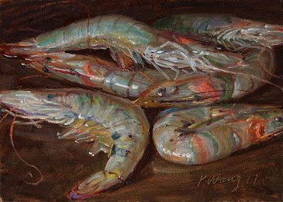 Shrimp painting