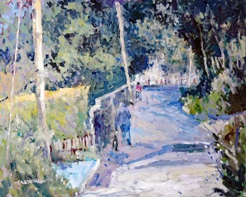 Vacation Village 16in. x 20in. Oil / Canvas