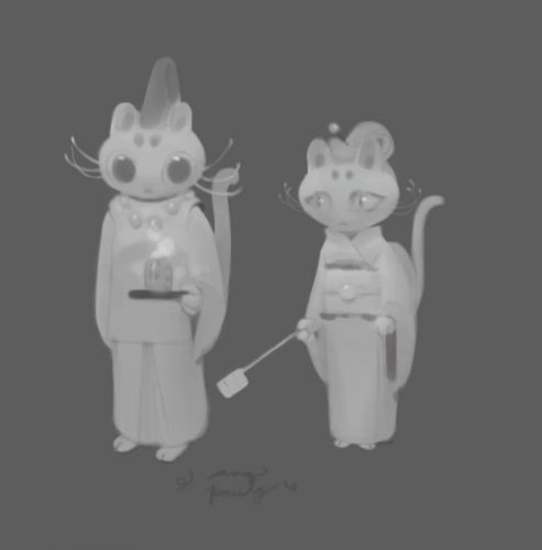 May sketch a day 005. character exploration for a cat