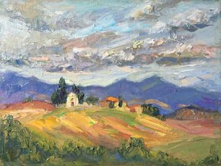 """New """"Tranquil Life"""" Oil Painting of Tuscany by Niki Gulley"""