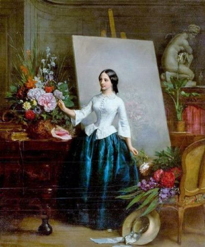 19C Language of Flowers - Arranging Flowers