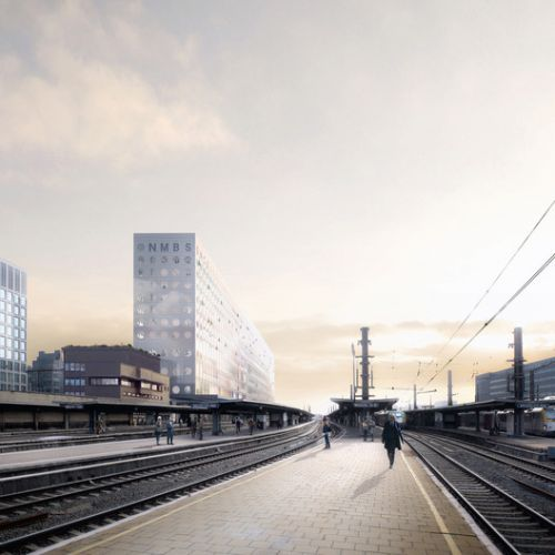 OMA Designs New Headquarters for Belgium's National Railway Company