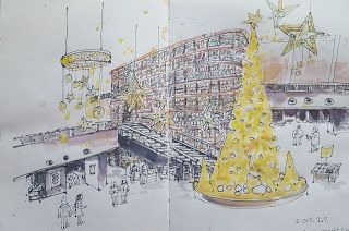 Sketchs at the Starfield Library and Starfield COEX Mall