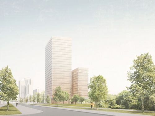 """David Chipperfield Wins Competition for Munich Pensions Fund HQ with """"Clear, Formal Towers"""""""