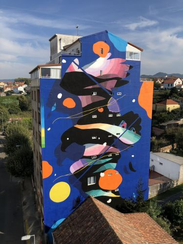 """ANHELO"" by Sabek in Vigo, Spain"