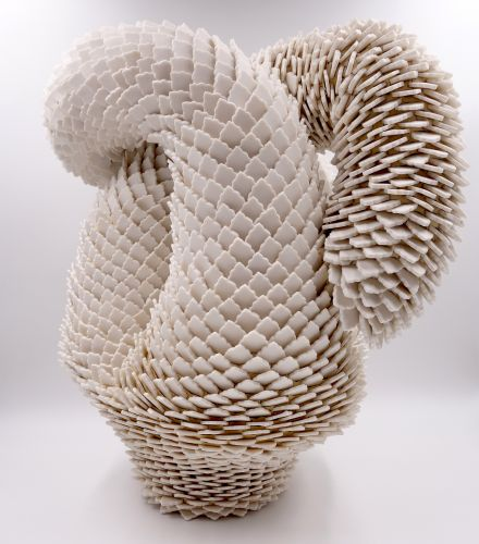 Innumerable Porcelain Pieces Form Flowers and Coral in Zemer Peled's Textured Sculptures