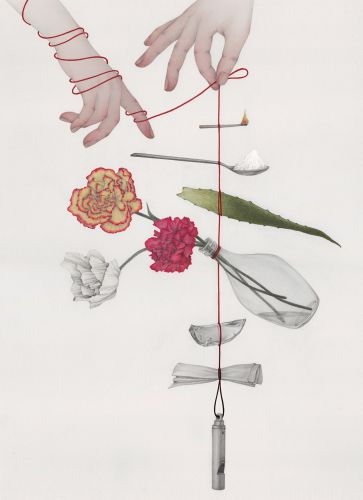 Fragile Compositions of Perishable Goods Are 'Hanging By a String' in Illustrations by Vicki Ling