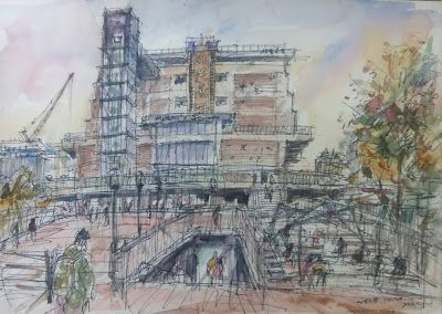 Sketches at the Sewoon Shopping Center, Seoul