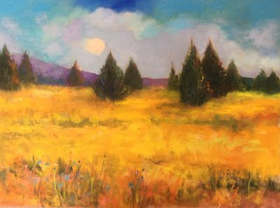"Contemporary Landscape, ""Fields of Gold,"" by Amy Whitehouse"