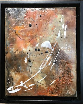 "Encaustic Abstract Art, Mixed Media, Contemporary Painting, ""Effusive"" by Texas Contemporary Artist Sharon Whisnand"