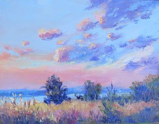 Morning's Soft Light, New Contemporary Landscape Painting by Sheri Jones