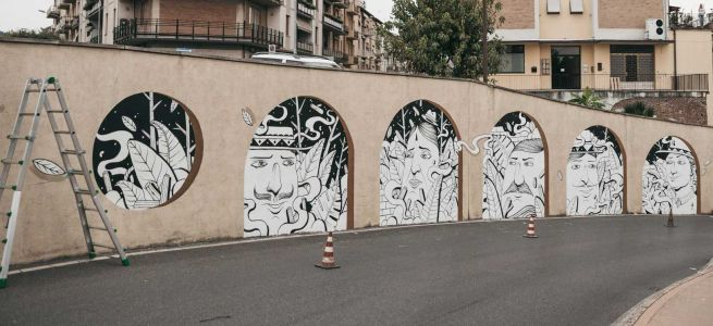 """""""Looking Beyond"""" a new mural by SeaCreative in Tuscany, Italy"""