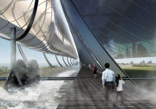 Olson Kundig's Hydro-Solar Generator Proposal Could Power 200 Melbourne Homes