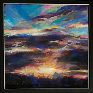 Sold - A DRAMATIC MORNING - Pastel Sunset by Susan Roden
