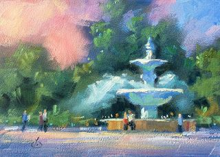 PUBLIC FOUNTAIN, CITY PARK by TOM BROWN