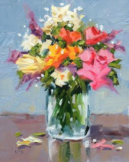 COLORFUL FLORAL STILL LIFE by TOM BROWN