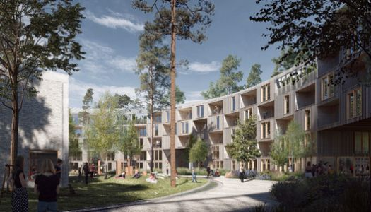Schauman & Nordgren Architects Won a Competition to Design a Housing Block in the Finnish Forest