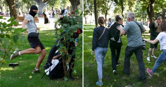 Photographer Rescues Victim Of Anti-LGBT Mob