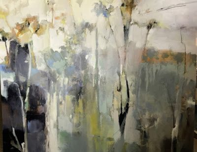 "Contemporary Abstract Landscape Painting ""Unplanted Garden"" by Intuitive Artist Joan Fullerton"
