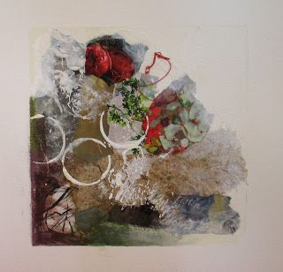 Garden Mixed Media Abstracts - SOLD
