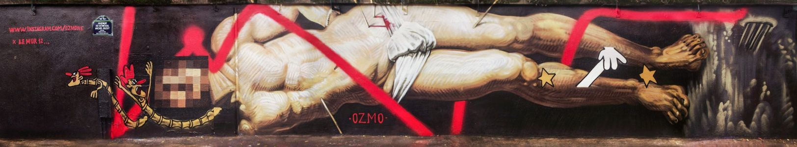 OZMO Mural for the World AIDS Day in Paris, France