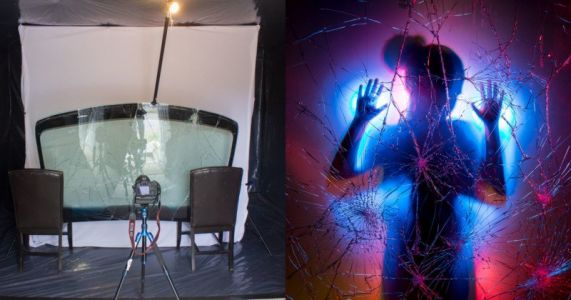 Shooting Light-Painting Portraits with a Shattered Windshield