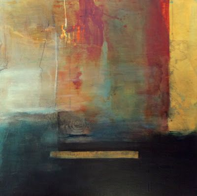 "Contemporary Abstract Mixed Media Painting ""Faith"" by Intuitive Artist Joan Fullerton"