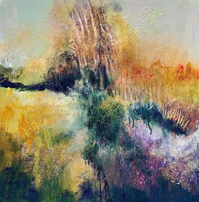 """Contemporary Painting, Abstract Art, Expressionism, Fine Art For Sale """"THE BECKONING"""" by Contemporary Artist Liz Thoresen"""