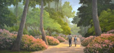 Bayou Bend Pathway - 2nd of Three 10-Foot Commissioned Paintings