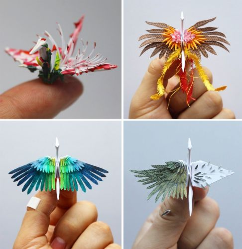 Cristian Marianciuc Creates a New Decorated Origami Paper Crane Daily for 1,000 Days