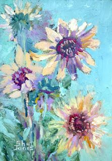 A Sunny Hello, New Contemporary Landscape Painting by Sheri Jones