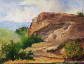 Vasquez Mountains,oils,canvas,landscape,Barbara Haviland-Texas Landscape Artist
