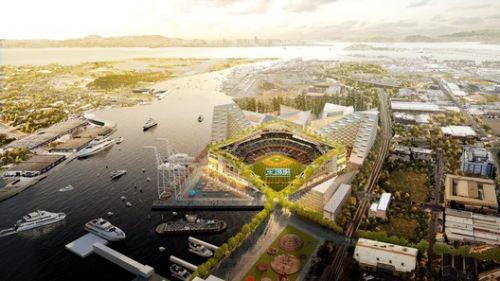 BIG, Gensler, and Field Operations Reveal Design for Oakland Athletics Baseball Stadium