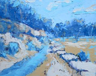 Creek Bound 8, New Contemporary Landscape Painting by Sheri Jones