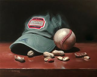 Braves Hat, Ball and Peanuts