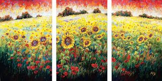 "New ""Field of Dreams"" Palette Knife Oil Painting by Contemporary Impressionist Niki Gulley"