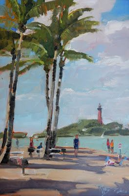 """View from Duboise Park"" plein air Florida landscape by Robin Weiss"