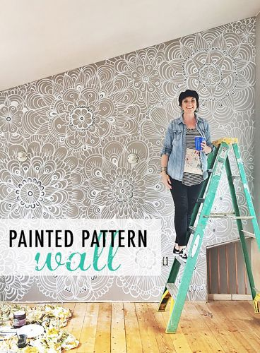 Tips for painting a pattern wall
