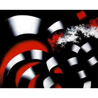 Mark Webster - Abstraction 24 - Abstract Landscape Oil Painting