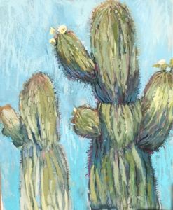 Painting in the Desert. The Saguaros