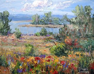 Early Morning on the Lake - Win this painting by Sheri Jones
