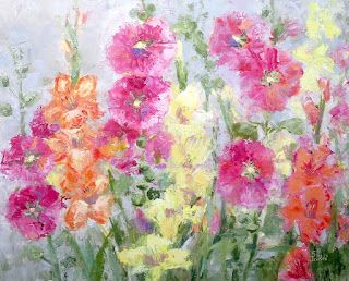 Spring Happy, New Contemporary Floral Painting by Sheri Jones
