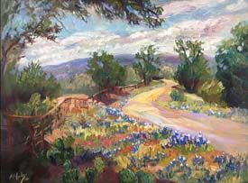 "New ""Texas Trails II"" Bluebonnet Oil Painting by Niki Gulley"
