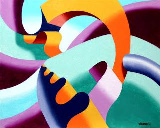 Mark Webster - The Modern Landscape 2.0 Abstract Geometric Oil Painting