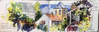 Journal Entry..France 2018..Watercolor.. Texas Artist..Rae Andrews