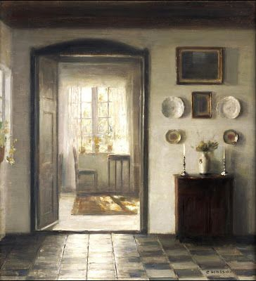 A Sunlit Interior by Carl Holsøe