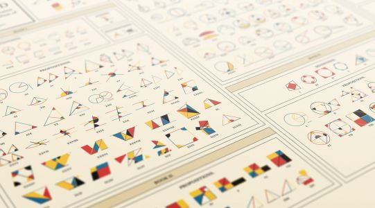 """A Contemporary Take on """"Byrne's Euclid"""" Brings Geometry to Life as a Colorful Poster"""