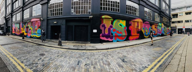 """Victims of knife crime remembered by Ben Eine with """"Peace is Possible"""" mural in Shoreditch"""