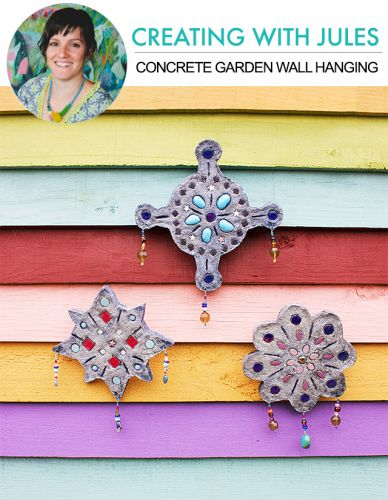 Creating with jules: concrete garden wall hanging