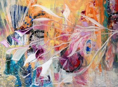 "Expressionism, Original Contemporary Abstract Painting ""When Seasons Change"" by International Contemporary Abstract Artist Arrachme"